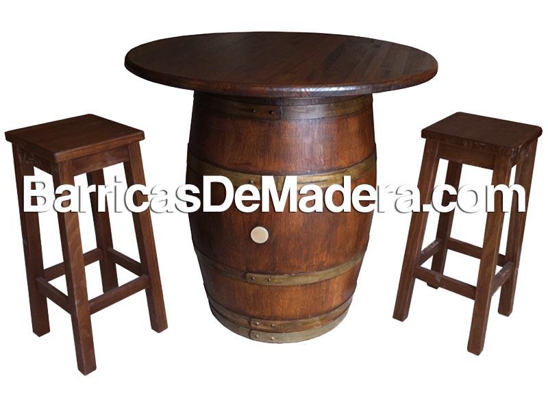 Barrica mesa, barril con tapa, tonel mesa (3)