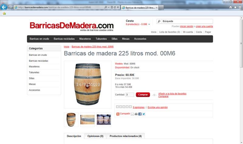 Comprar barricas usadas o barricas de segunda mano