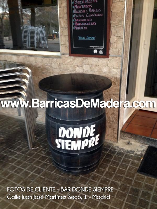Barricas personalizadas, barricas con logo