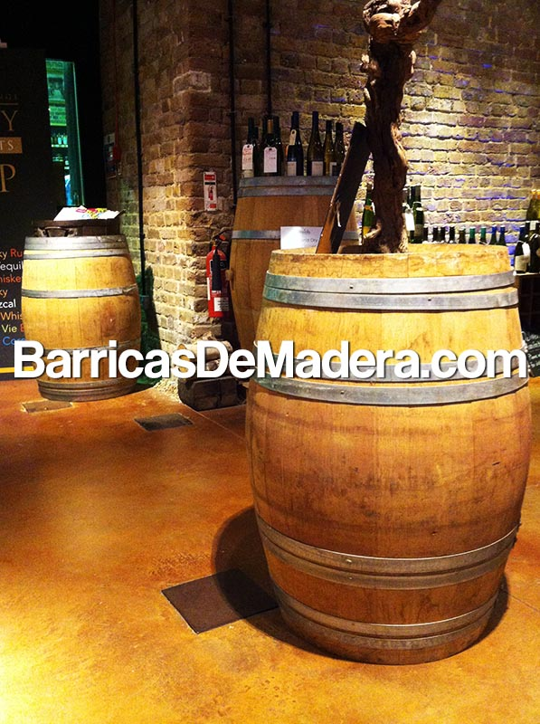 decoracion con barricas barriles toneles cubas barriques
