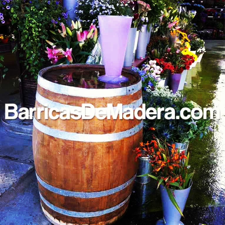 barril jardin barrica decoracion flores ideas