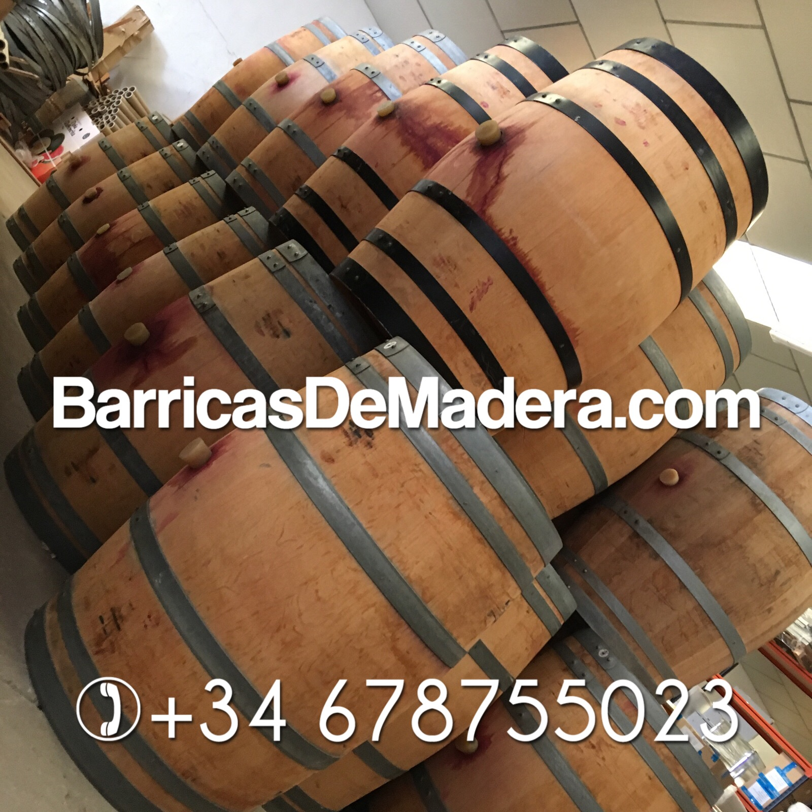 used french oak barrels