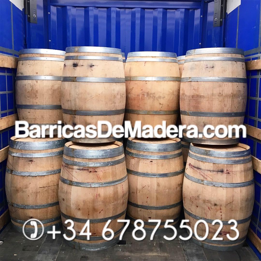 used wine barrels