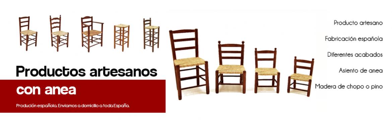 Sillas de madera con asiento de anea