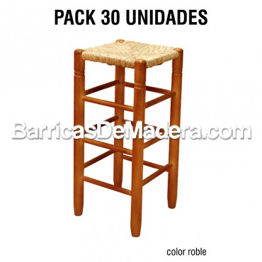 PACK 30x Taburete Alto Chopo Pintado