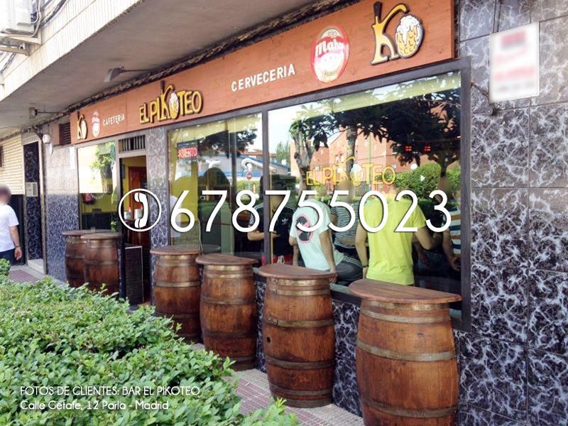 Barril bar reciclaje y venta de for Barriles de madera bar